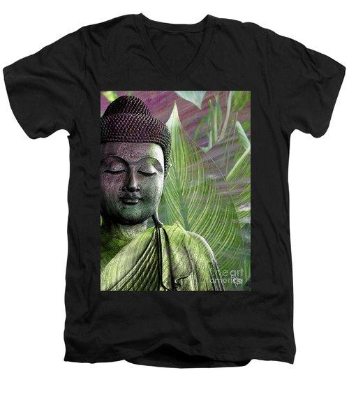 Meditation Vegetation Men's V-Neck T-Shirt