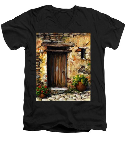 Mediterranean Portal Men's V-Neck T-Shirt by Emerico Imre Toth