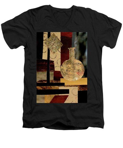 Mediterranean Vase Men's V-Neck T-Shirt by Patricia Cleasby