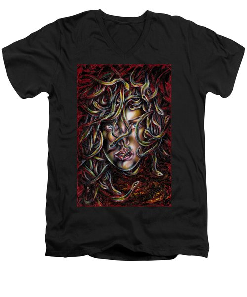 Medusa No. Three Men's V-Neck T-Shirt by Hiroko Sakai