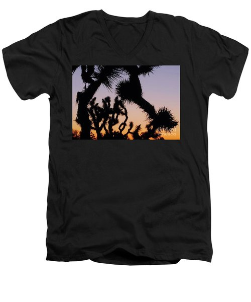 Men's V-Neck T-Shirt featuring the photograph Meet And Greet by Angela J Wright