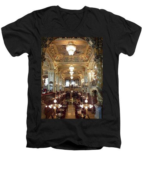 Meet Me For Coffee - New York Cafe - Budapest Men's V-Neck T-Shirt