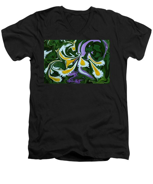Men's V-Neck T-Shirt featuring the photograph Melting Daisies by Aimee L Maher Photography and Art Visit ALMGallerydotcom