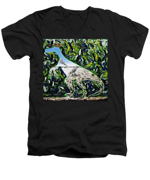Memetic Process Men's V-Neck T-Shirt by Ryan Demaree