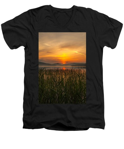 Men's V-Neck T-Shirt featuring the photograph Peace Of Mind by Rose-Maries Pictures