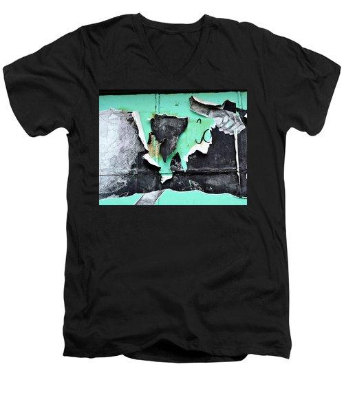 Memphis Found Art Green Good On Ya Men's V-Neck T-Shirt