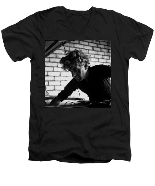 Men's V-Neck T-Shirt featuring the photograph Men At Work - Series I by Doc Braham