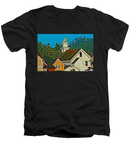 Mendocino California Men's V-Neck T-Shirt