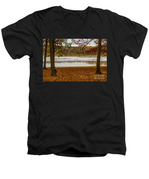 Mendon Ponds Men's V-Neck T-Shirt by William Norton
