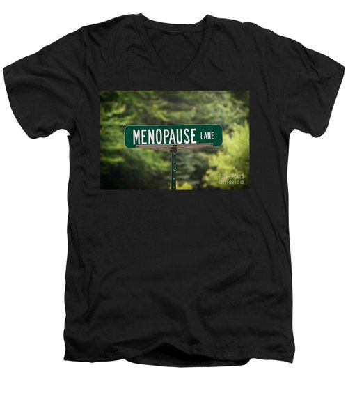 Menopause Lane Sign Men's V-Neck T-Shirt by Sue Smith