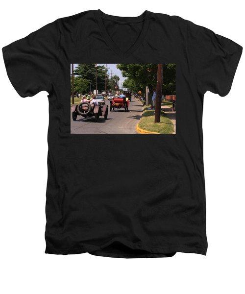 Mercers On Parade Men's V-Neck T-Shirt
