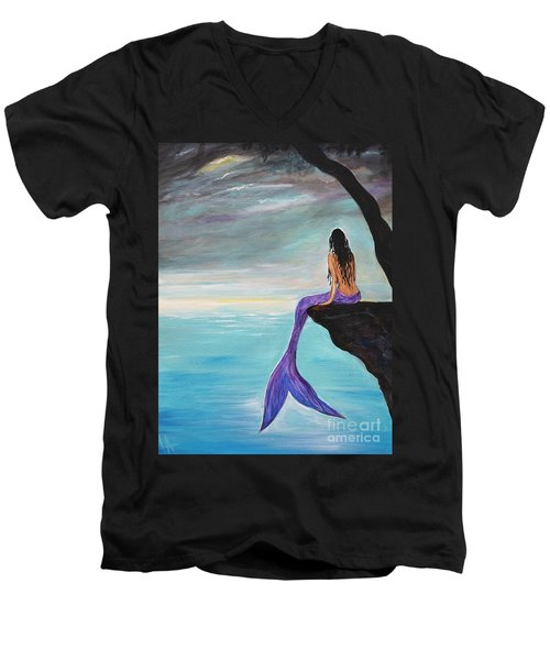 Mermaid Oasis Men's V-Neck T-Shirt