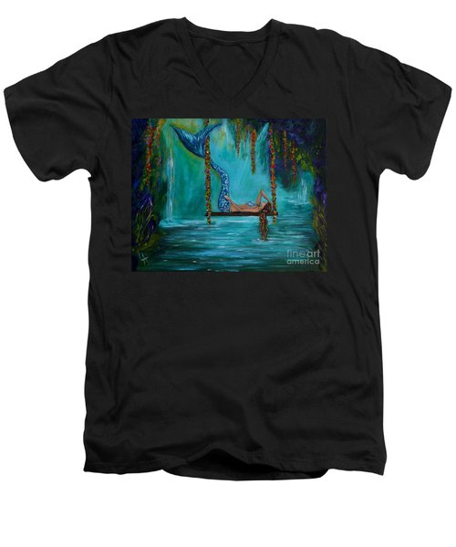 Mermaids Tranquility Men's V-Neck T-Shirt