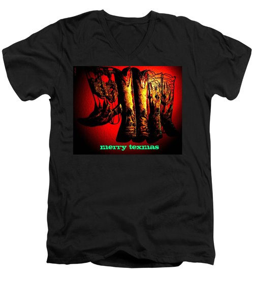 Merry Texmas Men's V-Neck T-Shirt