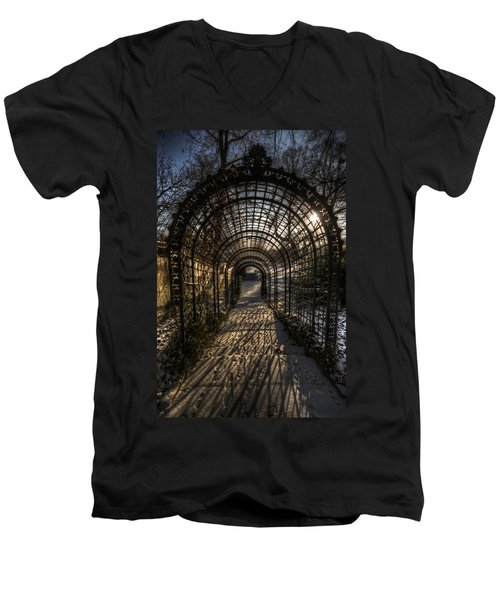 Metal Garden Men's V-Neck T-Shirt by Nathan Wright