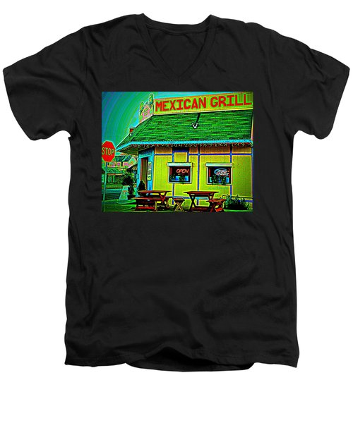 Mexican Grill Men's V-Neck T-Shirt