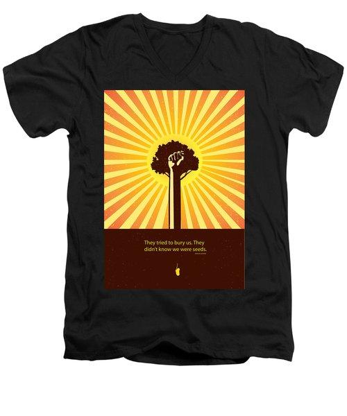 Mexican Proverb Minimalist Poster Men's V-Neck T-Shirt by Sassan Filsoof