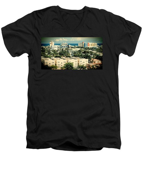 Miami Beach-0156 Men's V-Neck T-Shirt