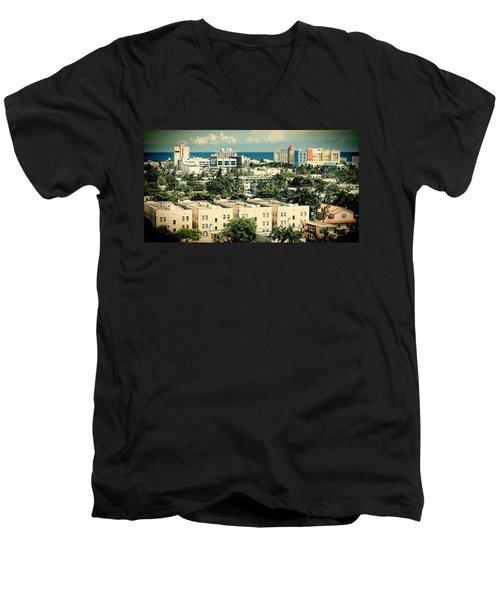 Miami Beach-0156 Men's V-Neck T-Shirt
