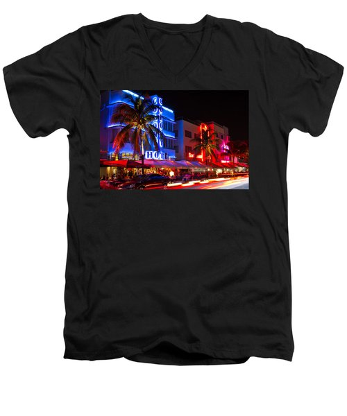 Miami Beach Ocean Drive Men's V-Neck T-Shirt
