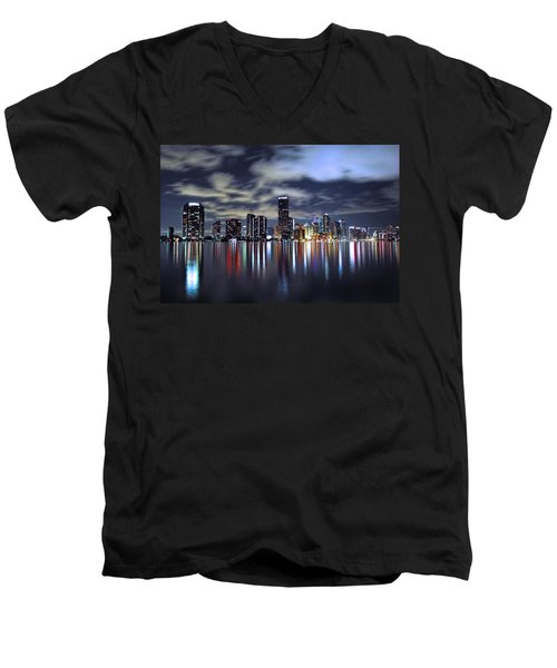 Miami Skyline Men's V-Neck T-Shirt