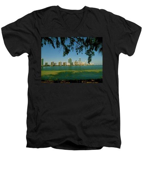Miami Skyline Men's V-Neck T-Shirt