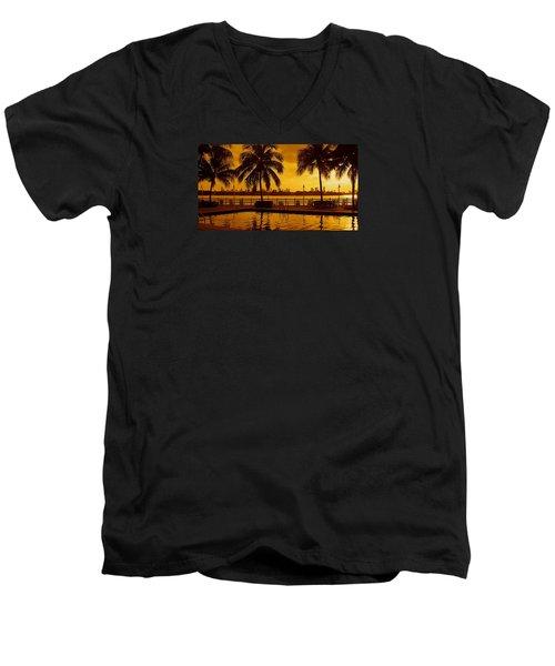 Miami South Beach Romance Men's V-Neck T-Shirt