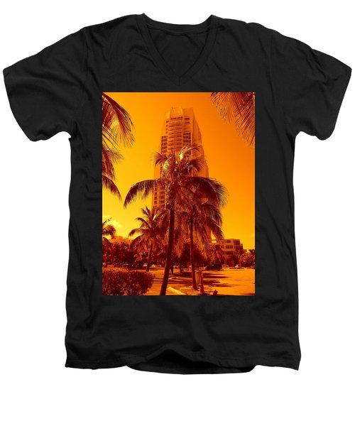 Miami South Pointe Iv Men's V-Neck T-Shirt