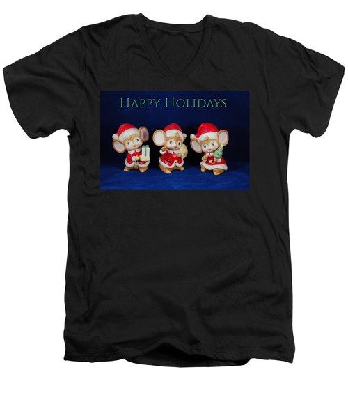 Mice Holiday Men's V-Neck T-Shirt