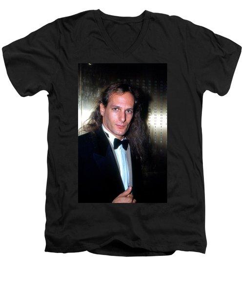 Michael Bolton 1990 Men's V-Neck T-Shirt by Ed Weidman