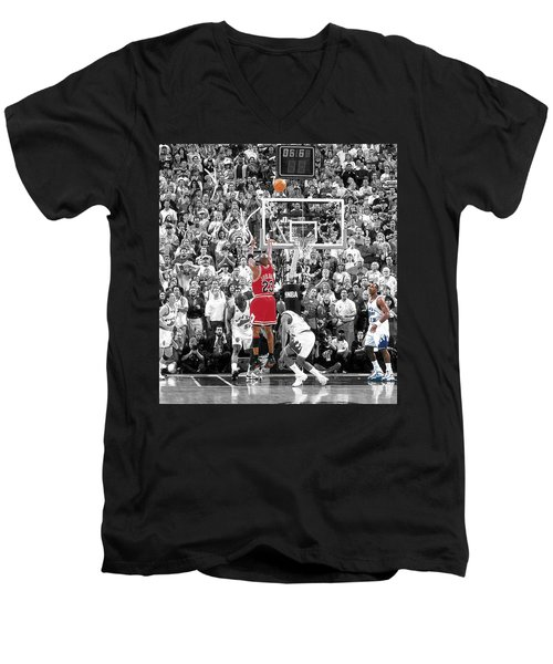 Michael Jordan Buzzer Beater Men's V-Neck T-Shirt