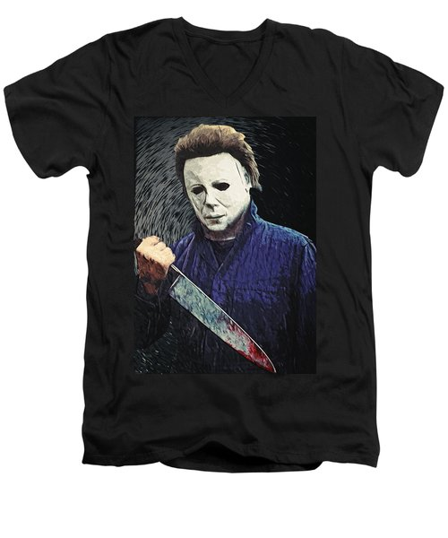 Michael Myers  Men's V-Neck T-Shirt