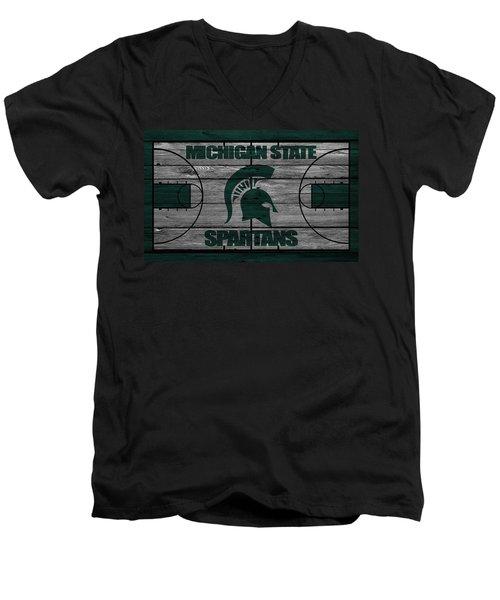 Michigan State Spartans Men's V-Neck T-Shirt