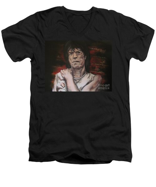 Mick Jagger - Street Fighting Man Men's V-Neck T-Shirt