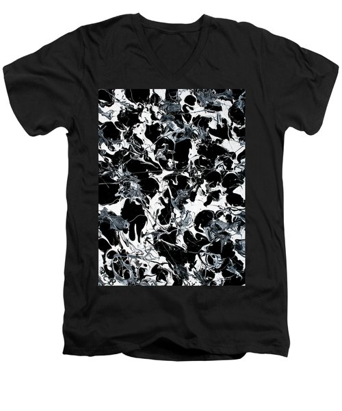 Microscopic Alien Fish Are Eating Away At My Brain Men's V-Neck T-Shirt