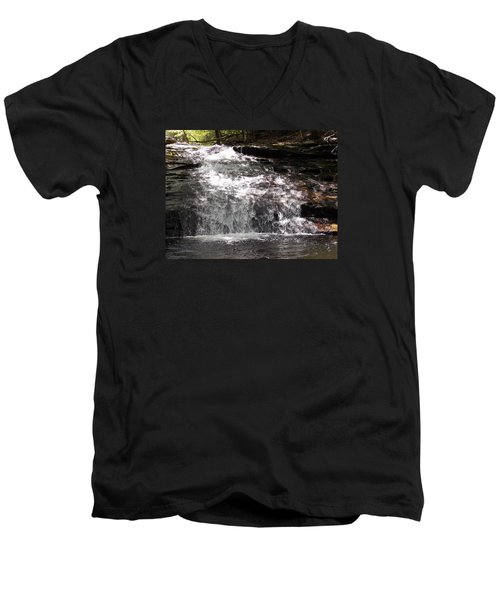 Middle Chapel Brook Falls Men's V-Neck T-Shirt