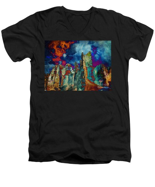 Midnight Fires Men's V-Neck T-Shirt