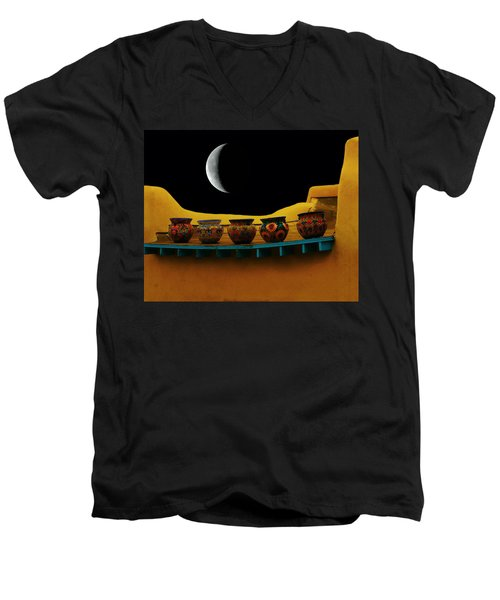 Midnight In Taos Men's V-Neck T-Shirt