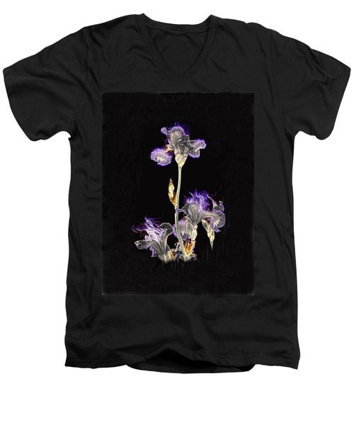 Midnight Iris Men's V-Neck T-Shirt