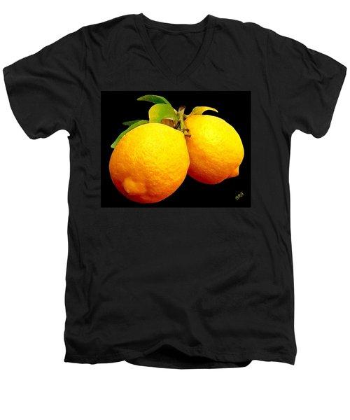 Midnight Lemons Men's V-Neck T-Shirt