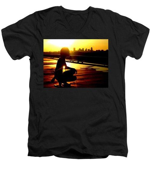 Midtown Is Memphis Men's V-Neck T-Shirt