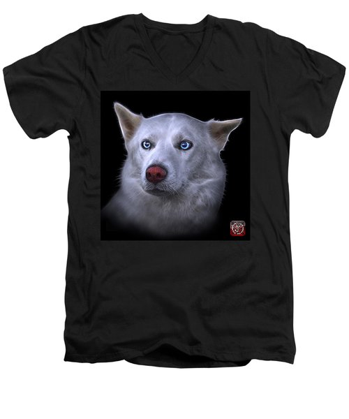Mila - Siberian Husky - 2103 - Bb Men's V-Neck T-Shirt