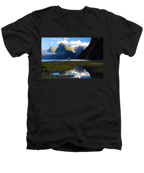 Milford Sound Men's V-Neck T-Shirt