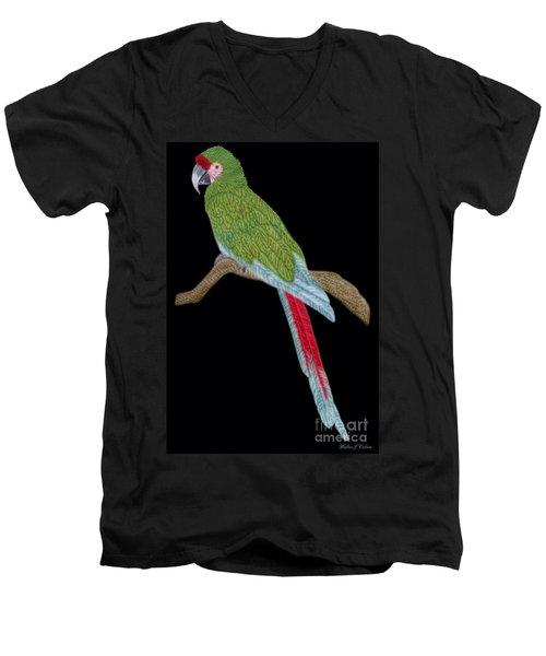 Military Macaw Men's V-Neck T-Shirt