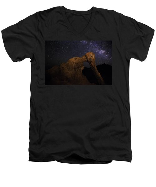 Milky Way Over The Elephant 2 Men's V-Neck T-Shirt