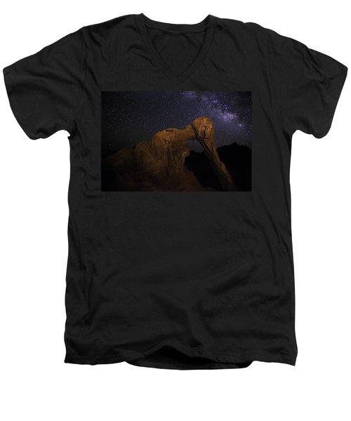 Milky Way Over The Elephant 2 Men's V-Neck T-Shirt