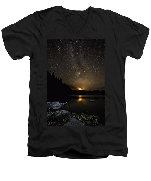 Milky Way At Crafnant Men's V-Neck T-Shirt