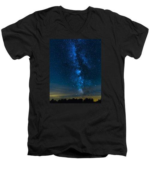 Milky Way Cherry Springs Men's V-Neck T-Shirt