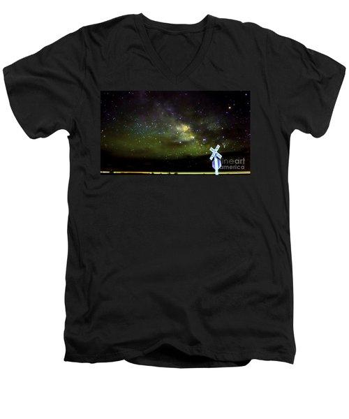 Milkyway  Crossing Blur Men's V-Neck T-Shirt
