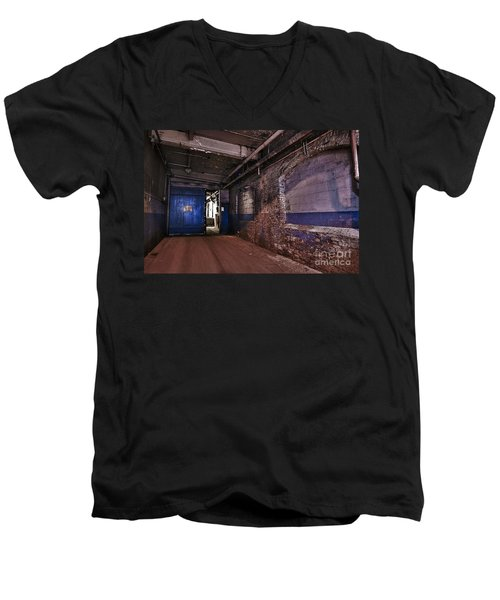 Men's V-Neck T-Shirt featuring the photograph Mill Hall by Alana Ranney